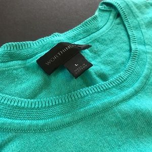 Worthington Sweaters - Worthington Aqua light knit sweater